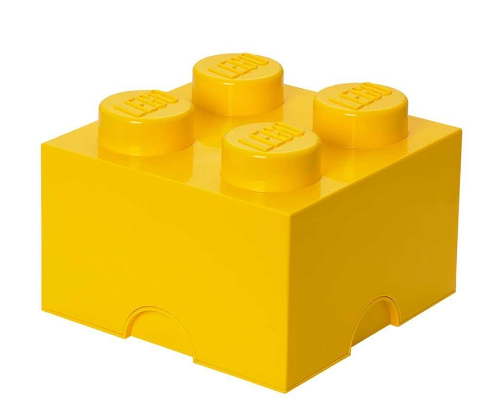 Lego Square Four Yellow Doboz fedővel