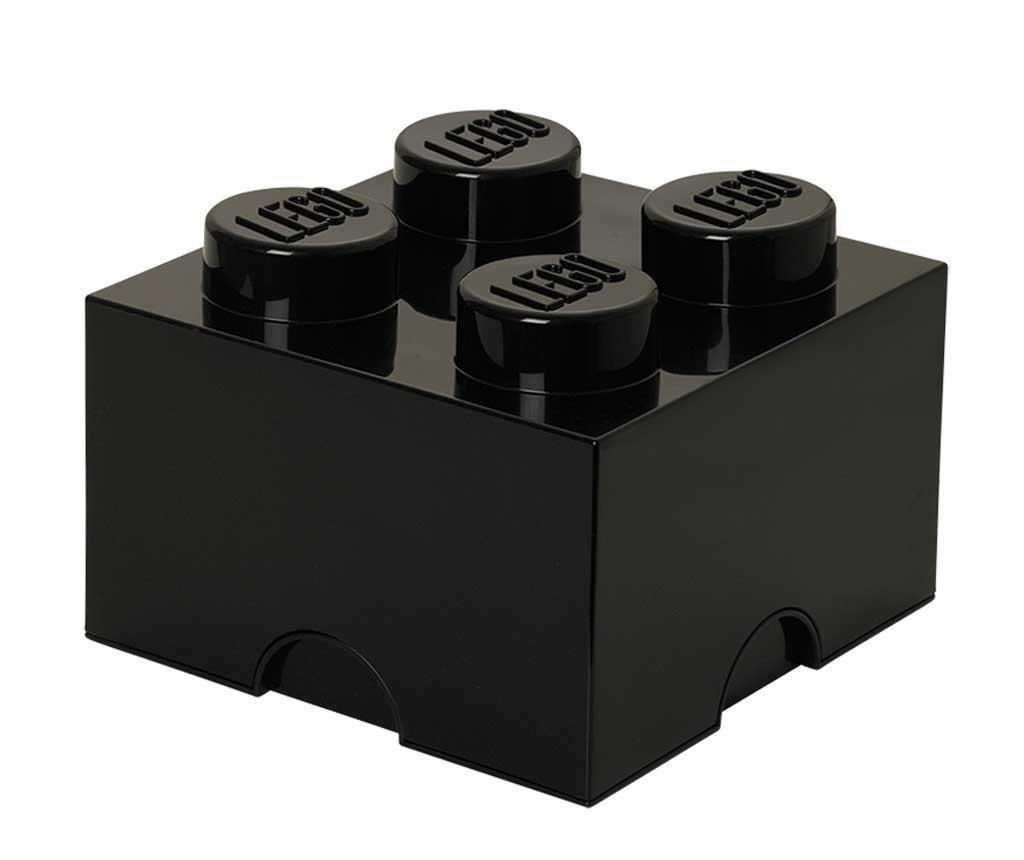 Lego Square Four Black Doboz fedővel