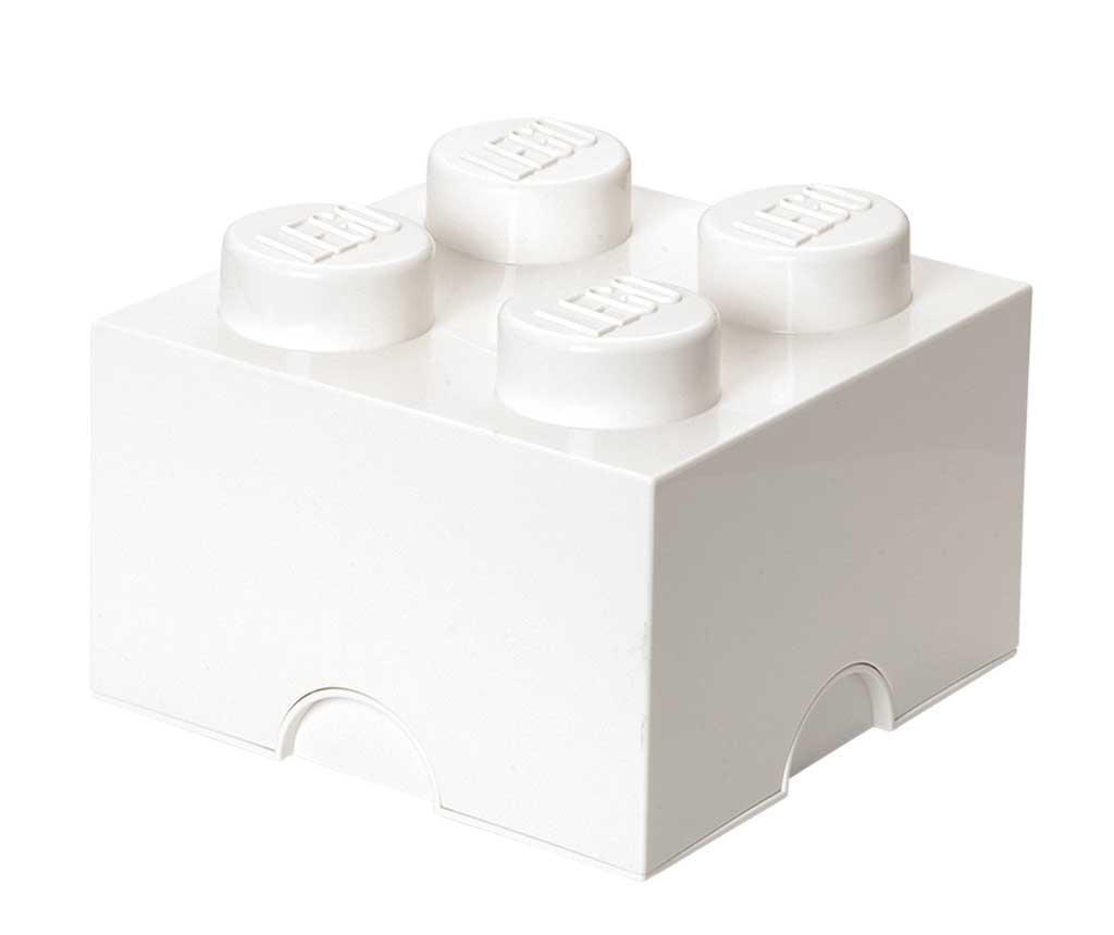 Cutie cu capac Lego Square Four White