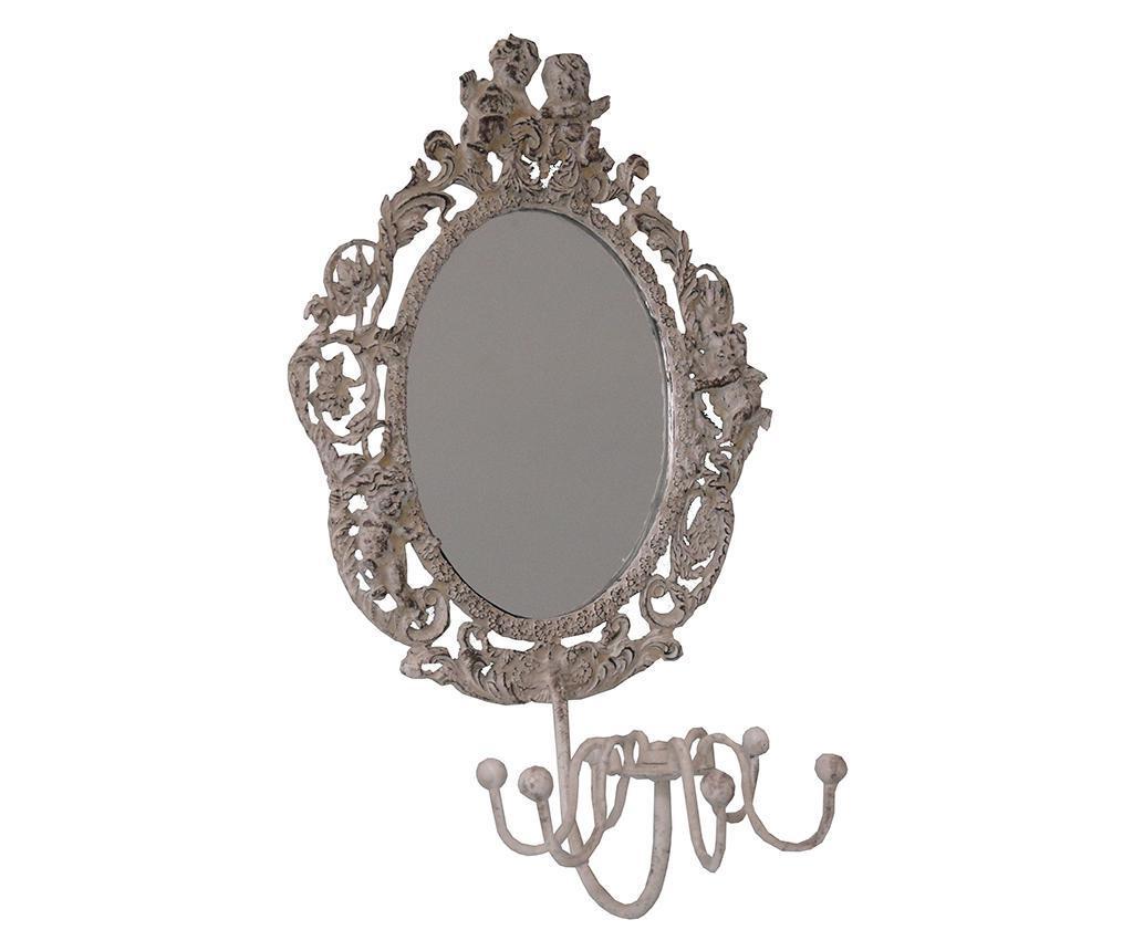 Obešalnik z ogledalom Shine