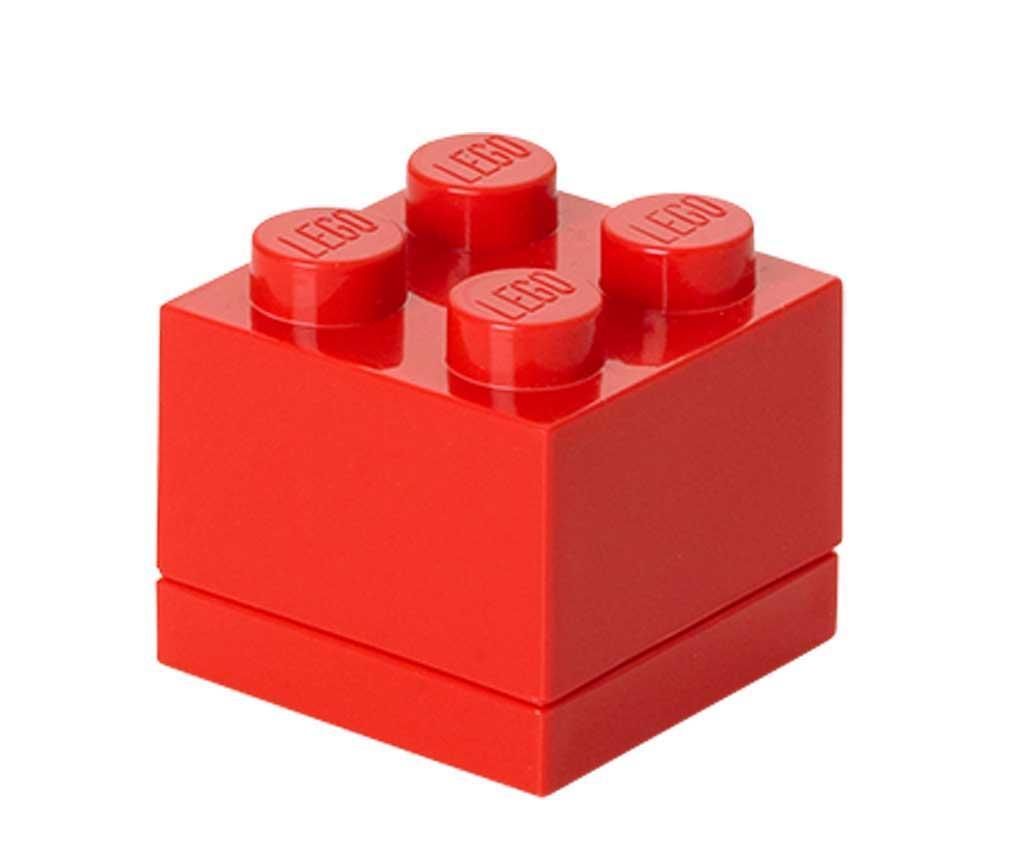 Škatla s pokrovom Lego Mini Square Red
