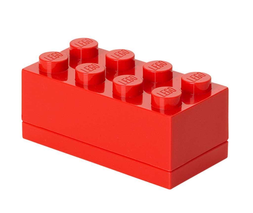Cutie cu capac Lego Mini Rectangular Red