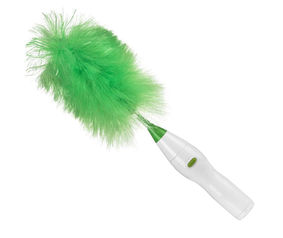 Perie rotativa pentru praf Fluff White Green