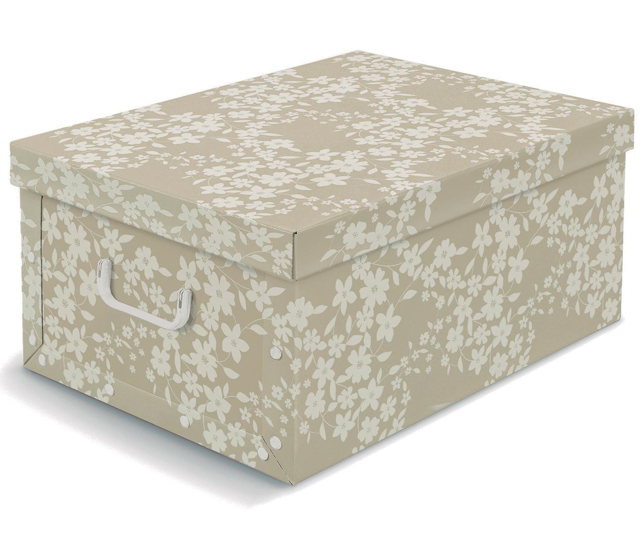 Kutija za pohranu s poklopcem Spring Beige L