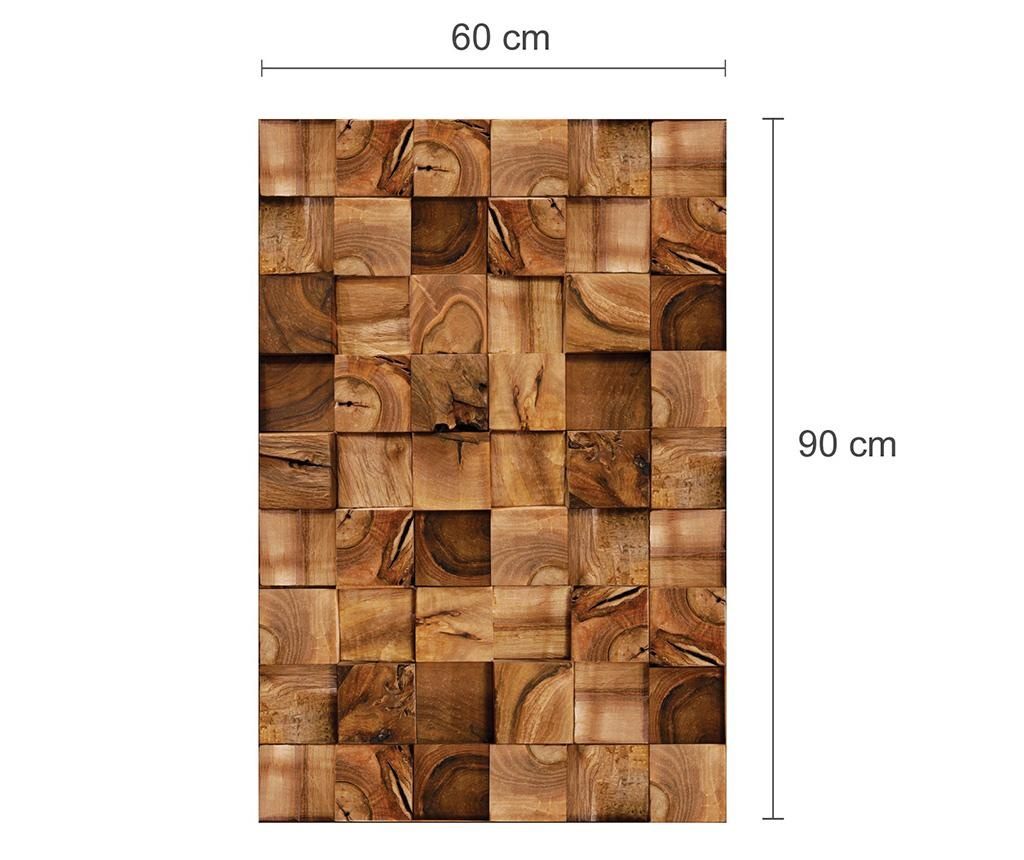 Sticker Square Timber