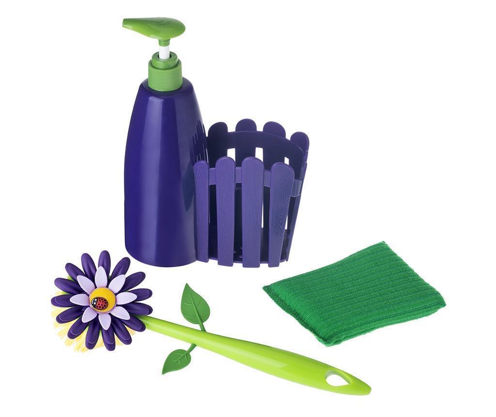 Flower Power Purple 3 darabos Konyhai szett
