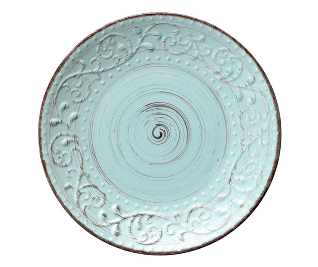 Plitki tanjur Serendipity Turquoise