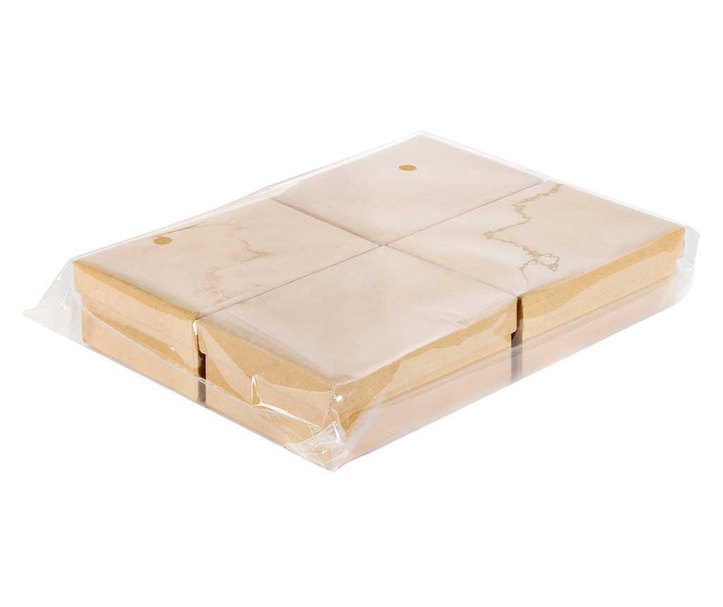 Set 4 cutii cu capac pentru pictat Simple