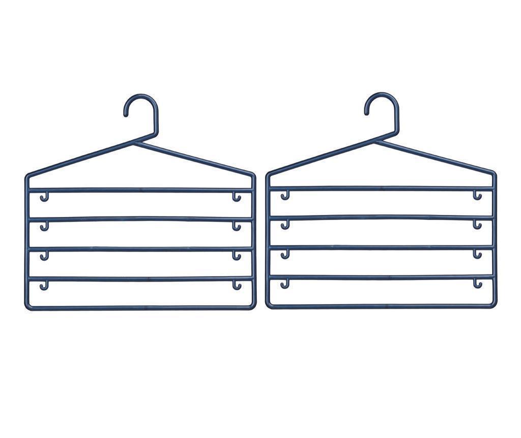 Set 2 vješalice za hlače Sharp Indigo