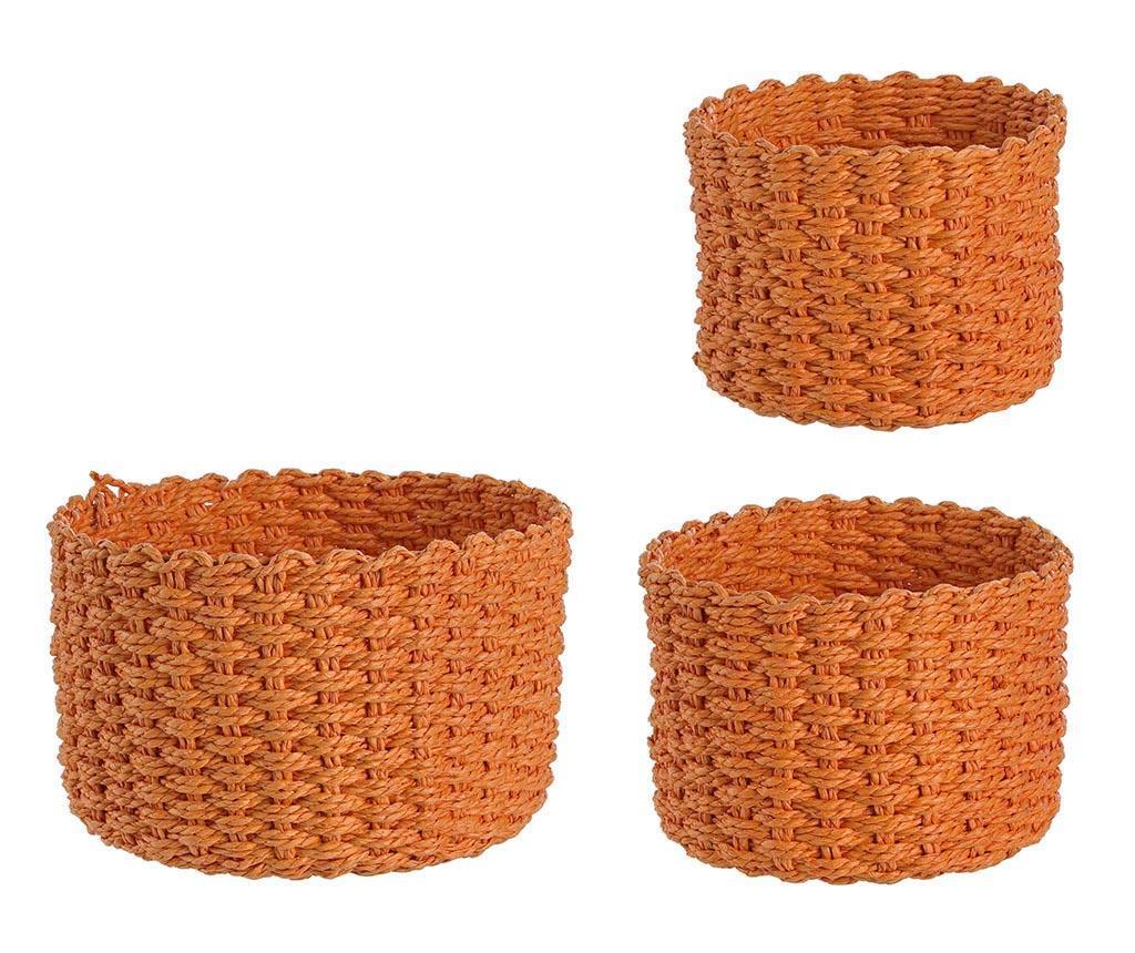 Set 3 cosuri Glam Round Orange