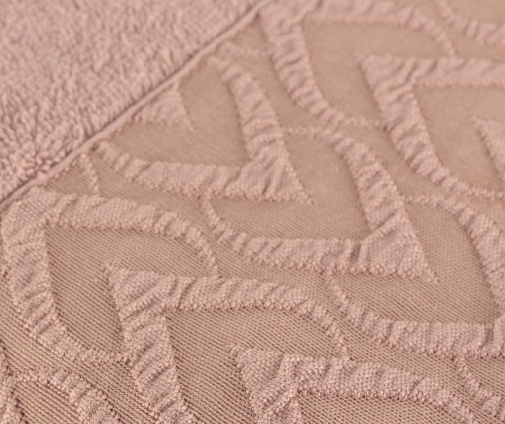 Set 2 prosoape de baie Persephone Dusty Rose 50x90 cm