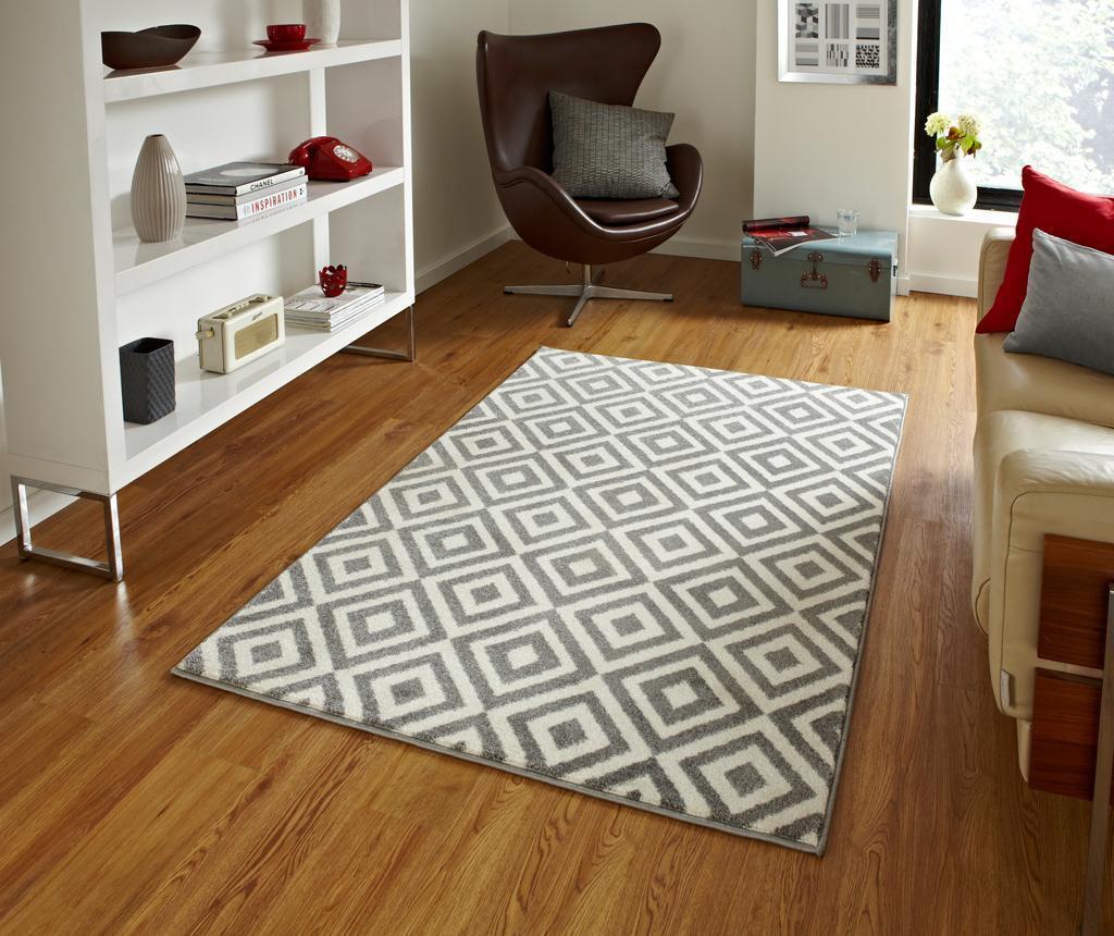 Tepih Matrix Grey White 160x220 cm