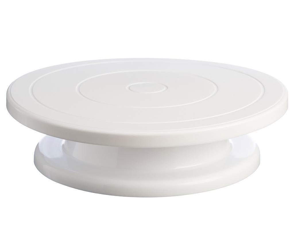 White Forgatható tál torta díszítéshez