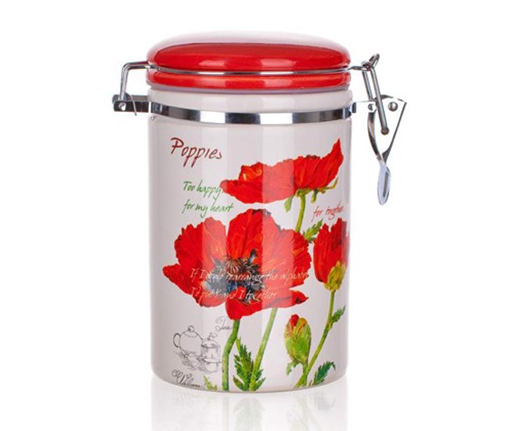 Red Poppy Tároló hermetikus fedővel 750 ml
