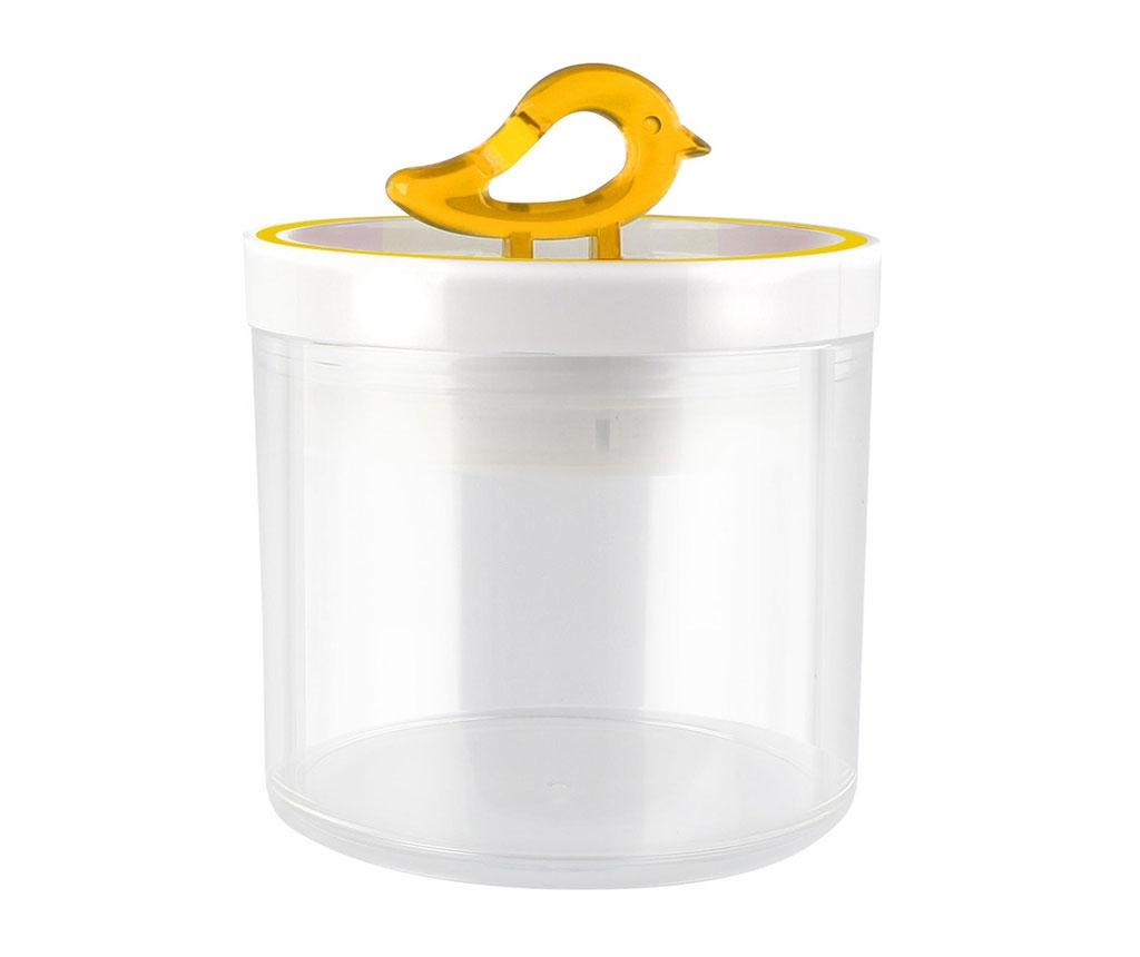 Recipient cu capac Livio Bird Yellow 400 ml