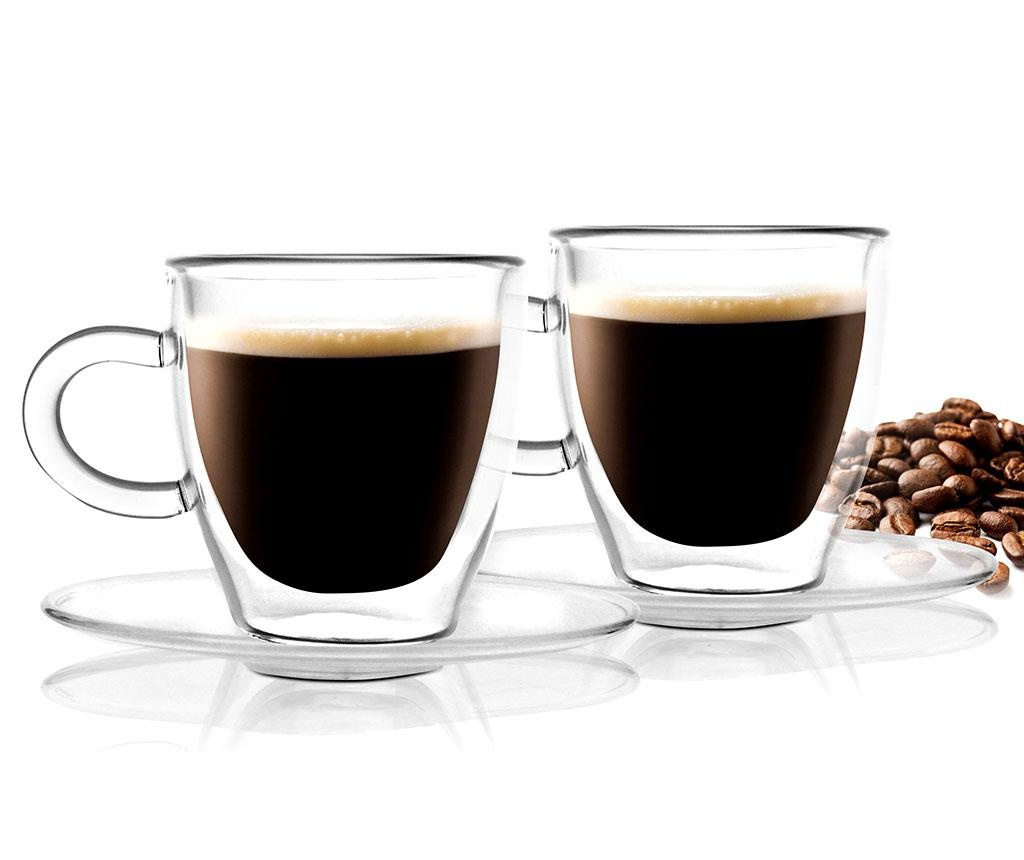 Set 2 šalice i 2 tanjurića Doubled Espresso 50 ml