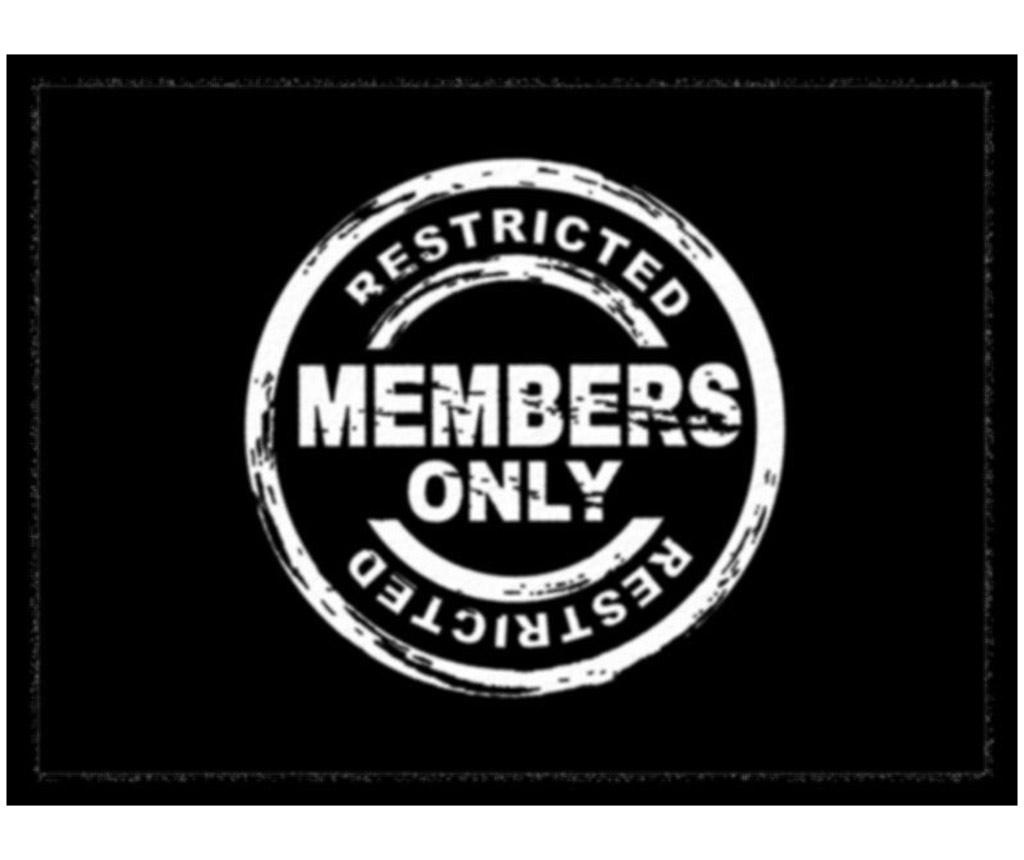 Covoras de intrare Members Only 40x60 cm