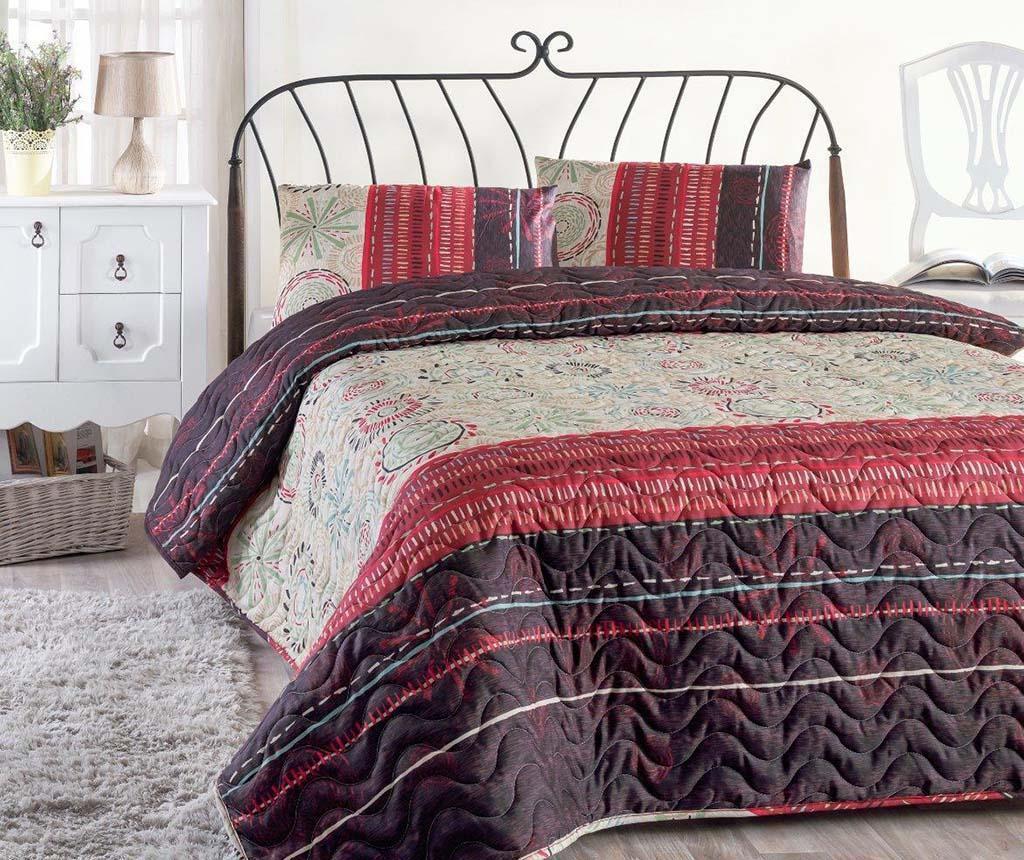 Pikowany zestaw na łóżko Double Aries Maroon