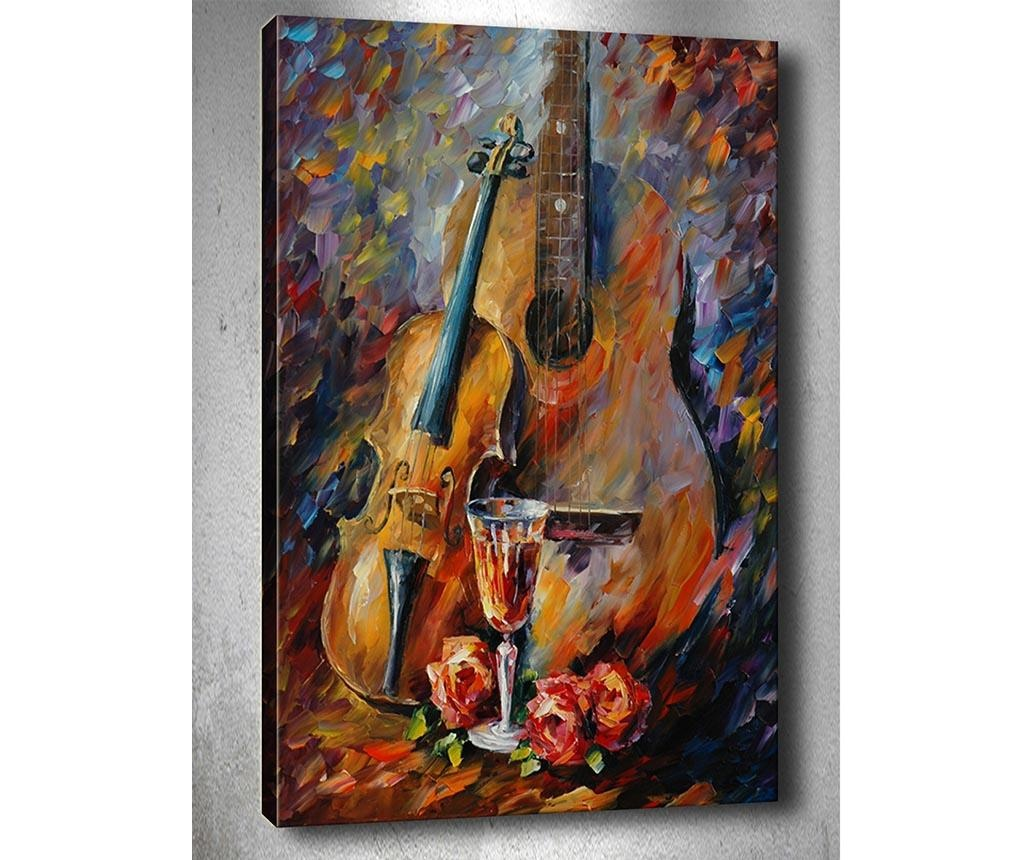 Music and Wine 3D Kép 50x70  cm
