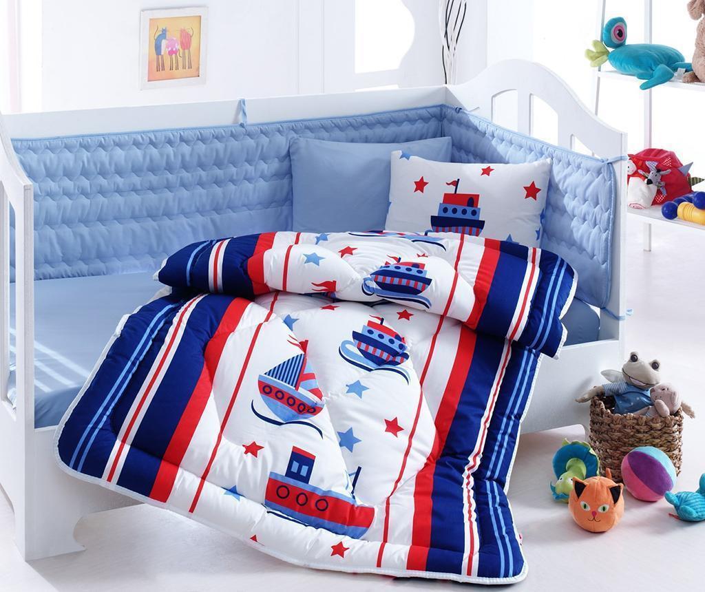 Sailor Ágynemű kiságyba, paplan és ágyrácsvédő