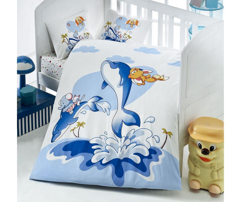 Posteljina za krevetić  Ranforce Dolphin 100x150