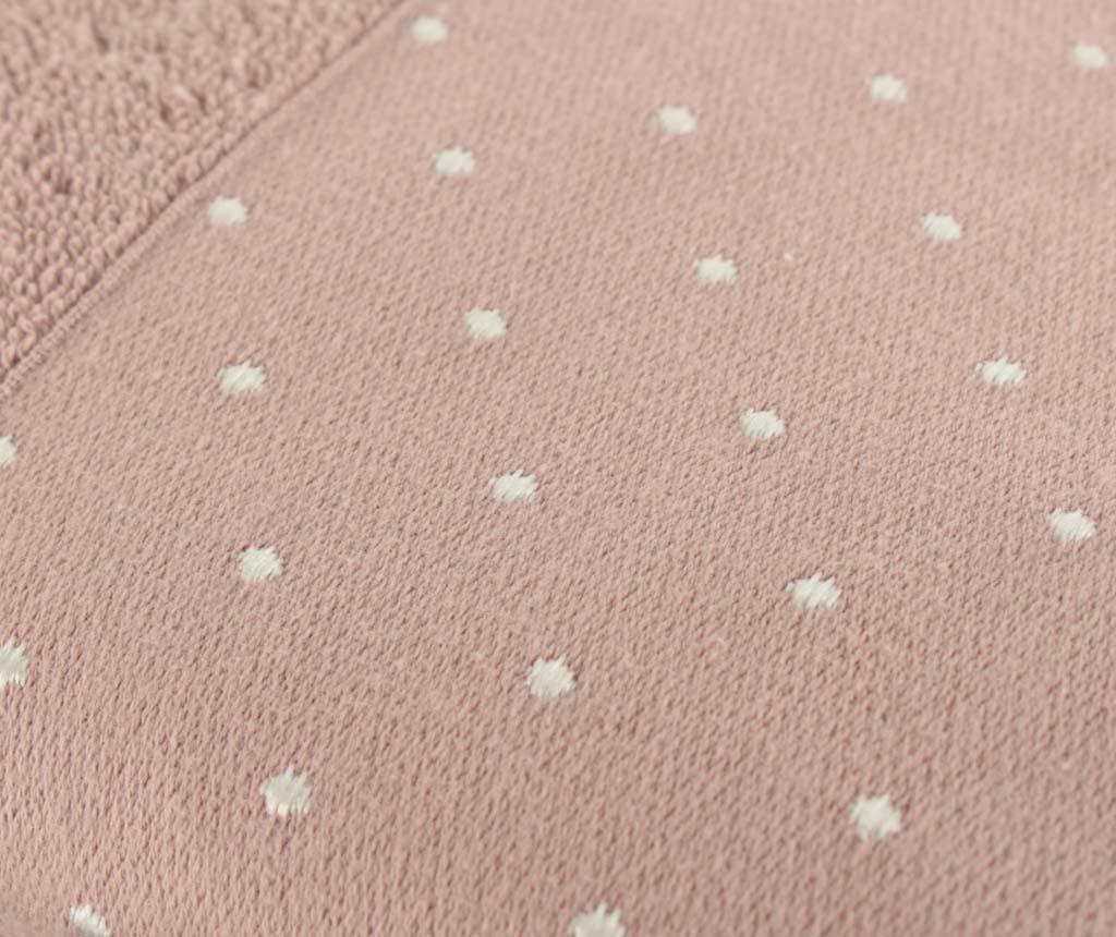 Polka Dots Dusty Rose 2 db Fürdőszobai törölköző 50x90 cm