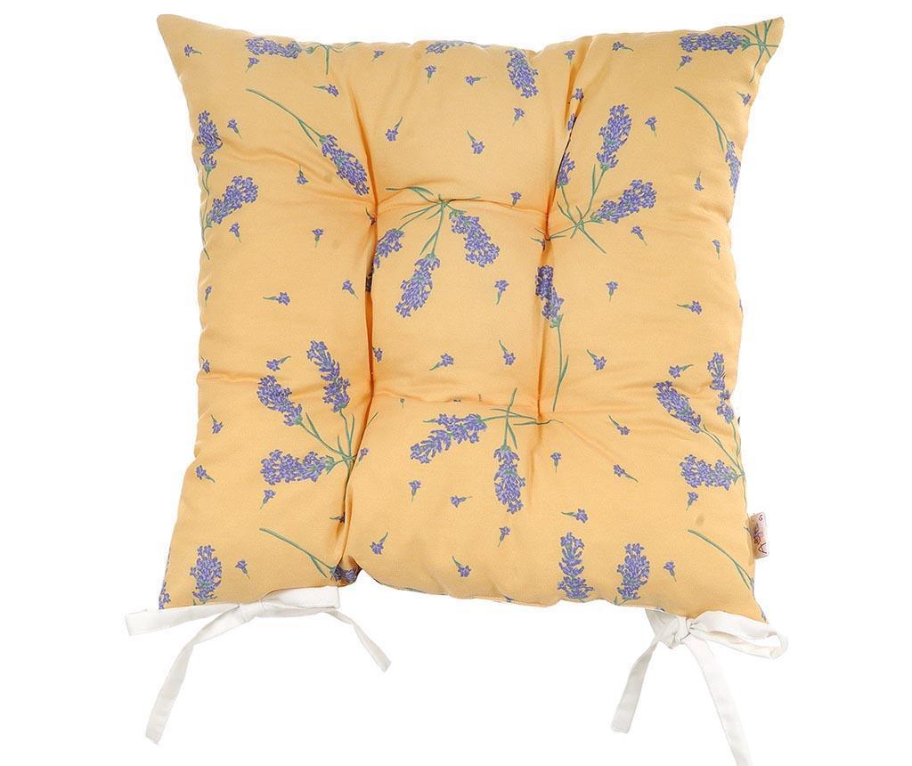 Sedežna blazina Lavender on Orange 37x37 cm