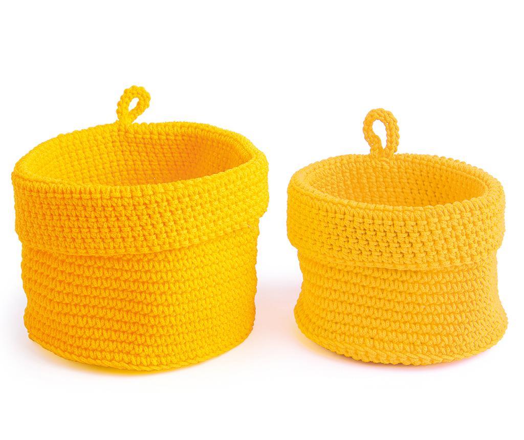 Set 2 cosuri Round Yellow