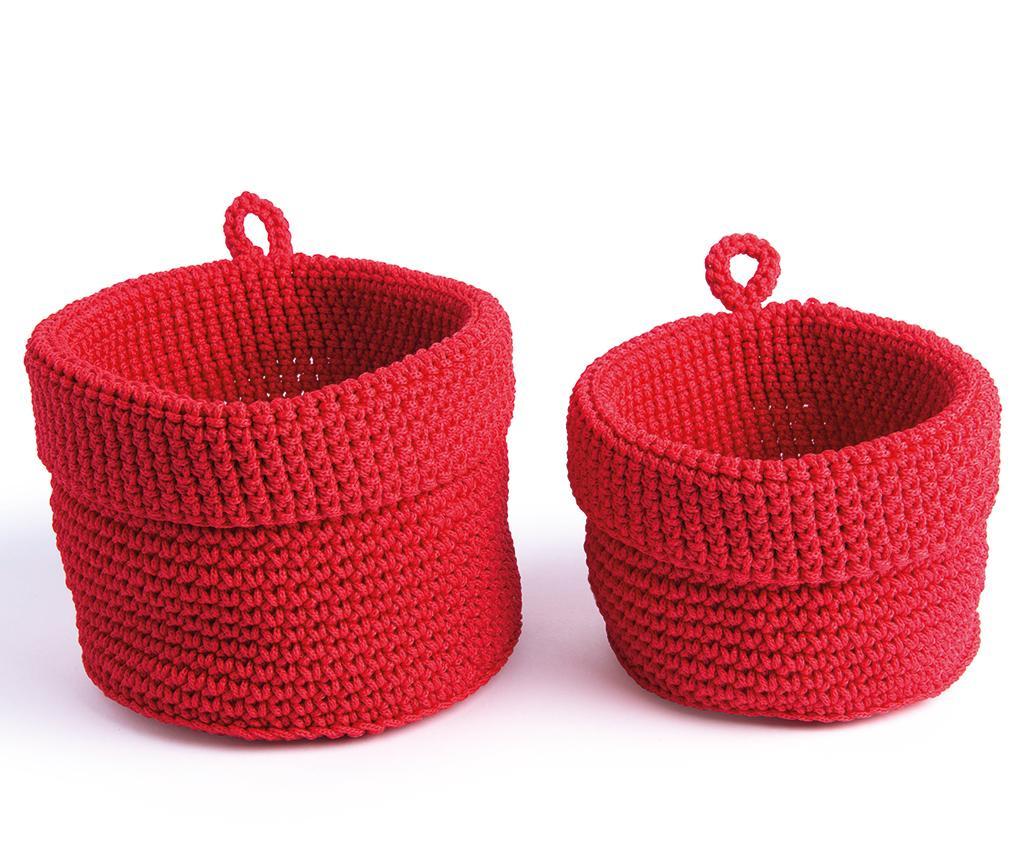 Set 2 cosuri Round Red