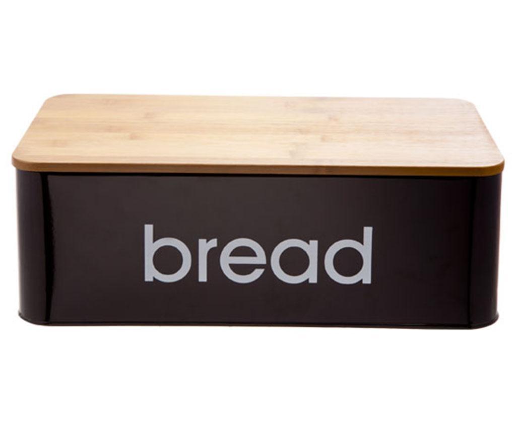 Škatla za kruh s pokrovom Black