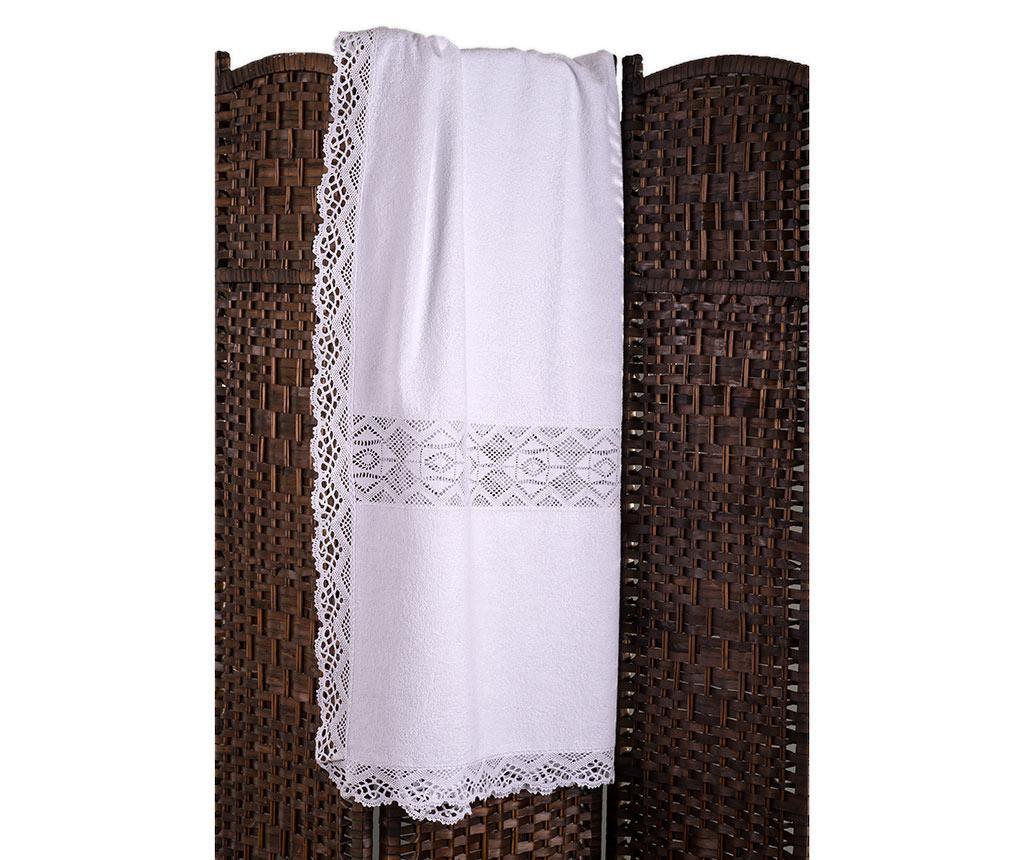 Kupaonski ručnik Lacy White 100x150 cm