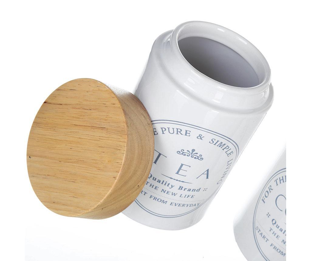 Simple Living Teatároló fedővel