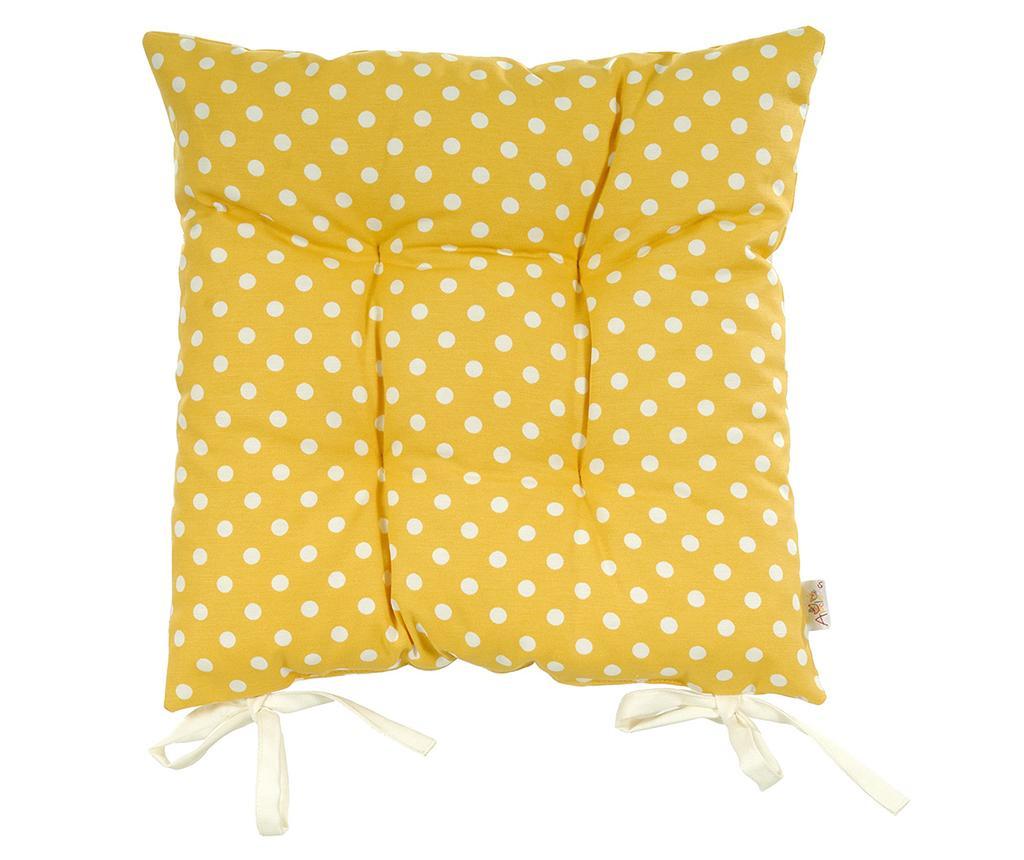 Polka Dots Yellow Ülőpárna 37x37 cm