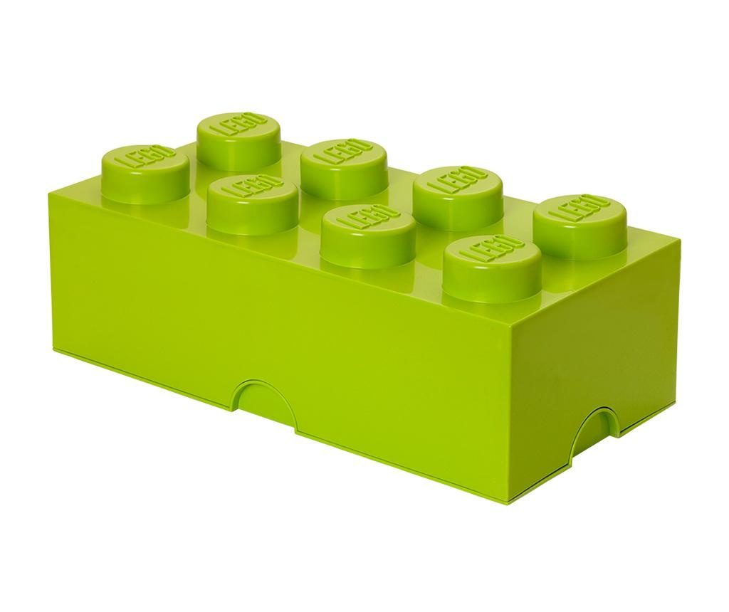 Cutie cu capac Lego Rectangular Extra Light Green
