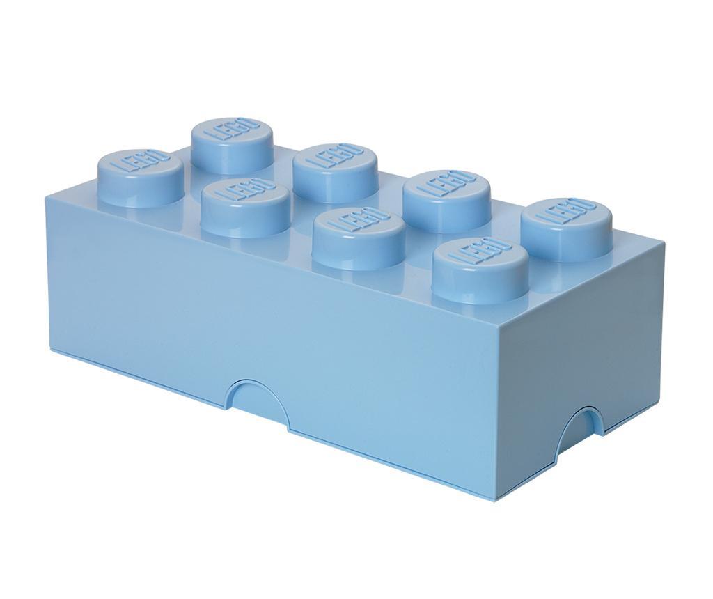 Cutie cu capac Lego Rectangular Pale Blue