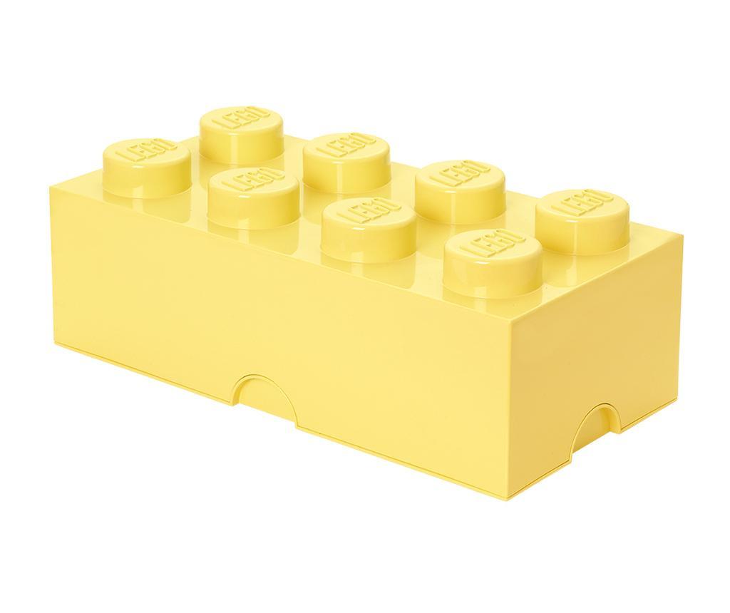 Kutija s poklopcem Lego Rectangular Extra Light Yellow
