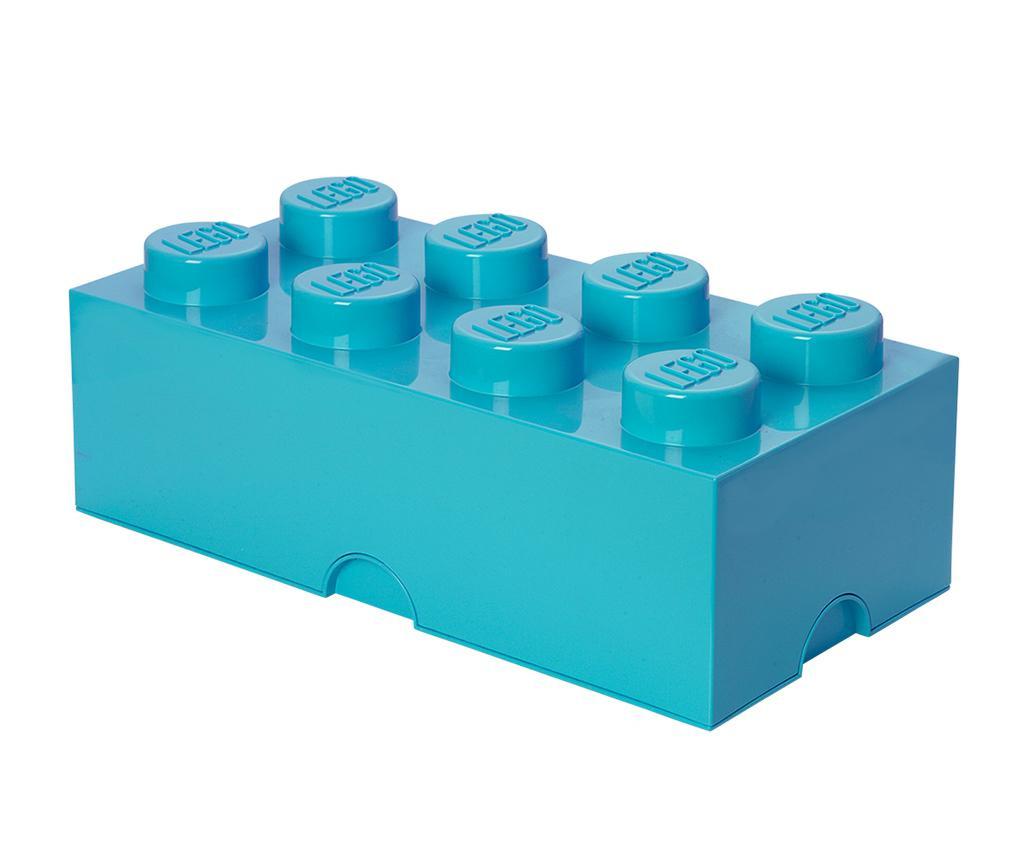 Kutija s poklopcem Lego Rectangular Extra Turquoise