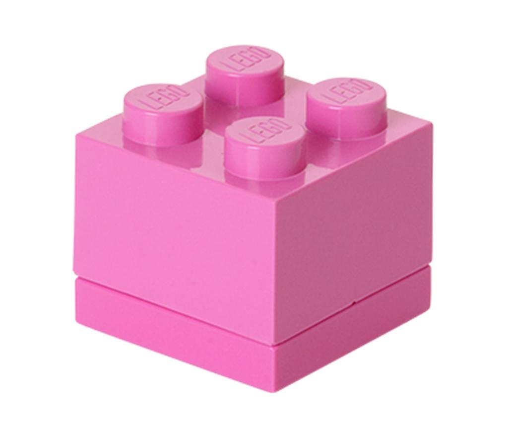 Lego Mini Square Bright Pink Doboz fedővel