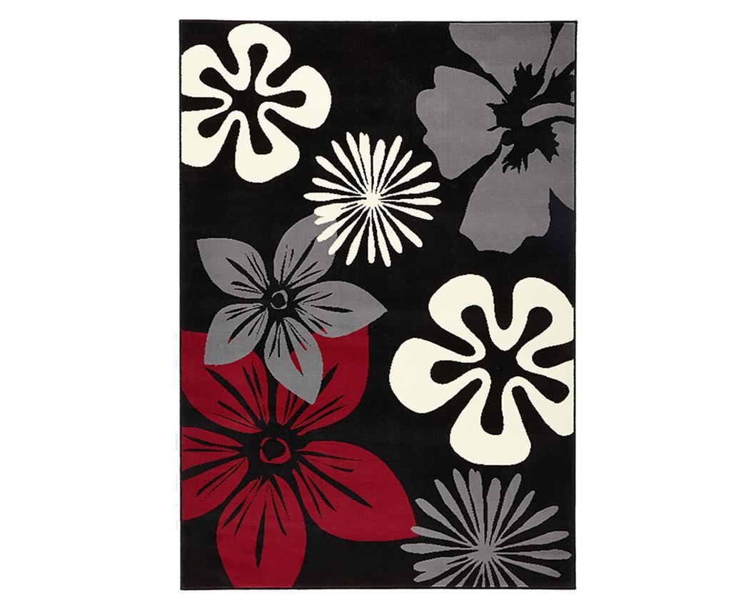 Preproga Flowers Black 80x150 cm