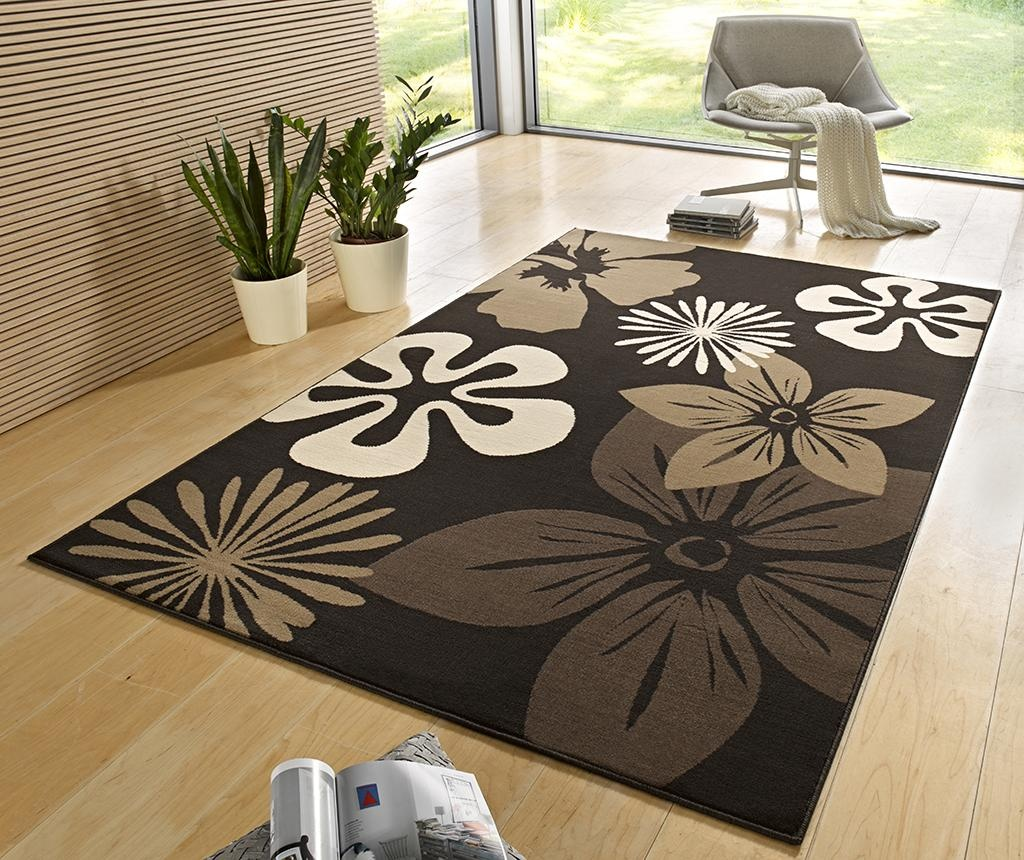 Covor Flowers Brown 120x170 cm