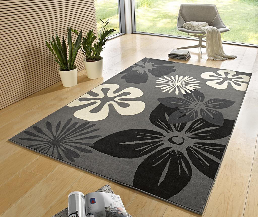 Preproga Flowers Grey 120x170 cm
