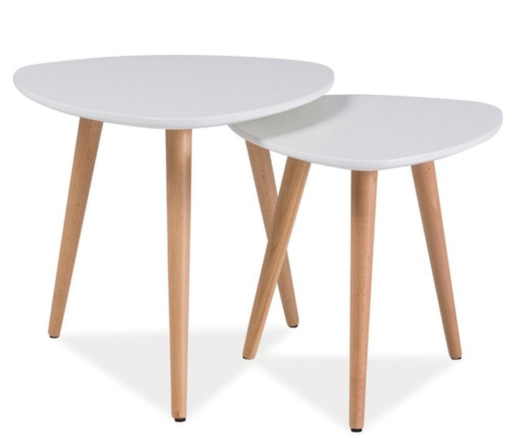 Set 2 klubskih mizic Zaria White