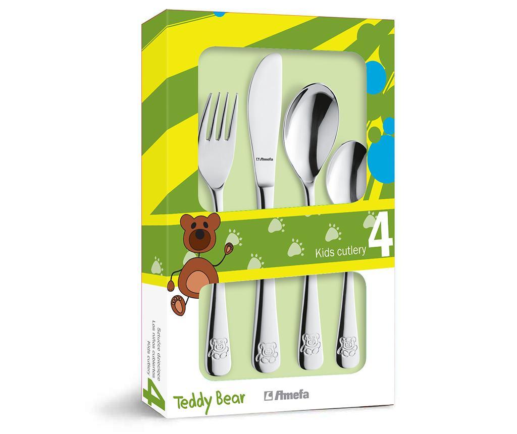 4 delni otroški jedilni pribor Teddy