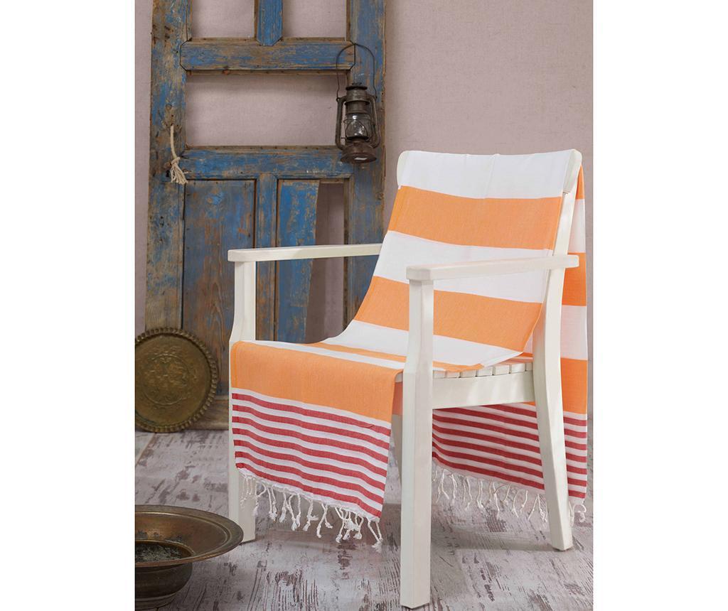 Prosop de plaja Fouta Antalya Orange 100x180 cm