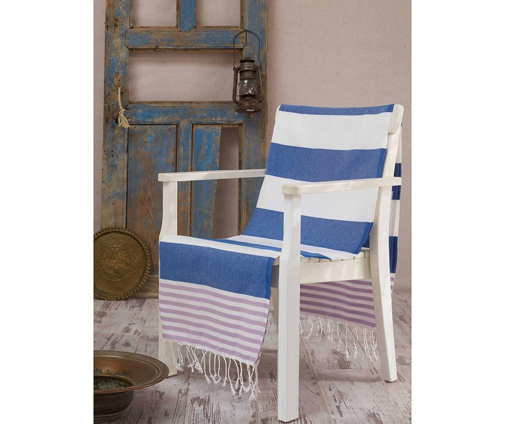 Ručnik za plažu Fouta Antalya Blue 100x180 cm