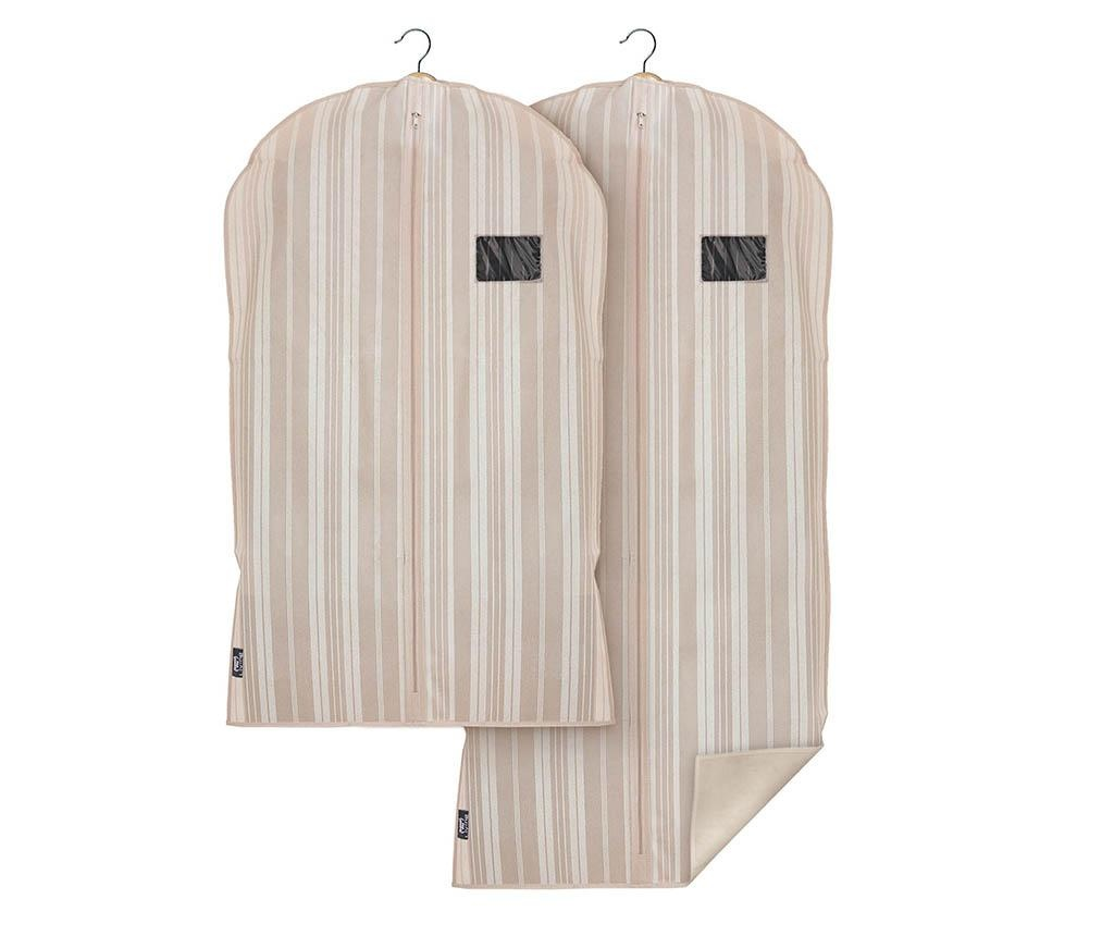 Set 2 huse pentru haine Stripes