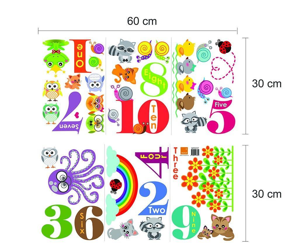 Naljepnica Animals Numbering