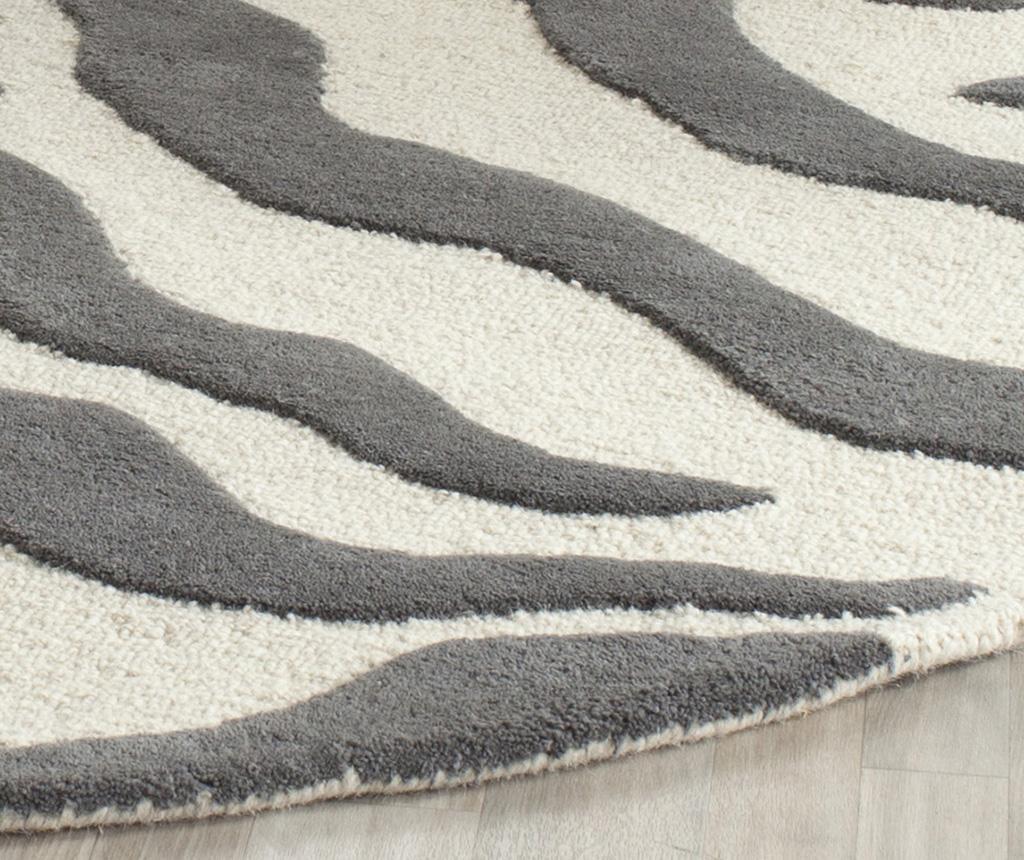 Nahla Ivory Dark Grey Szőnyeg 90x150 cm