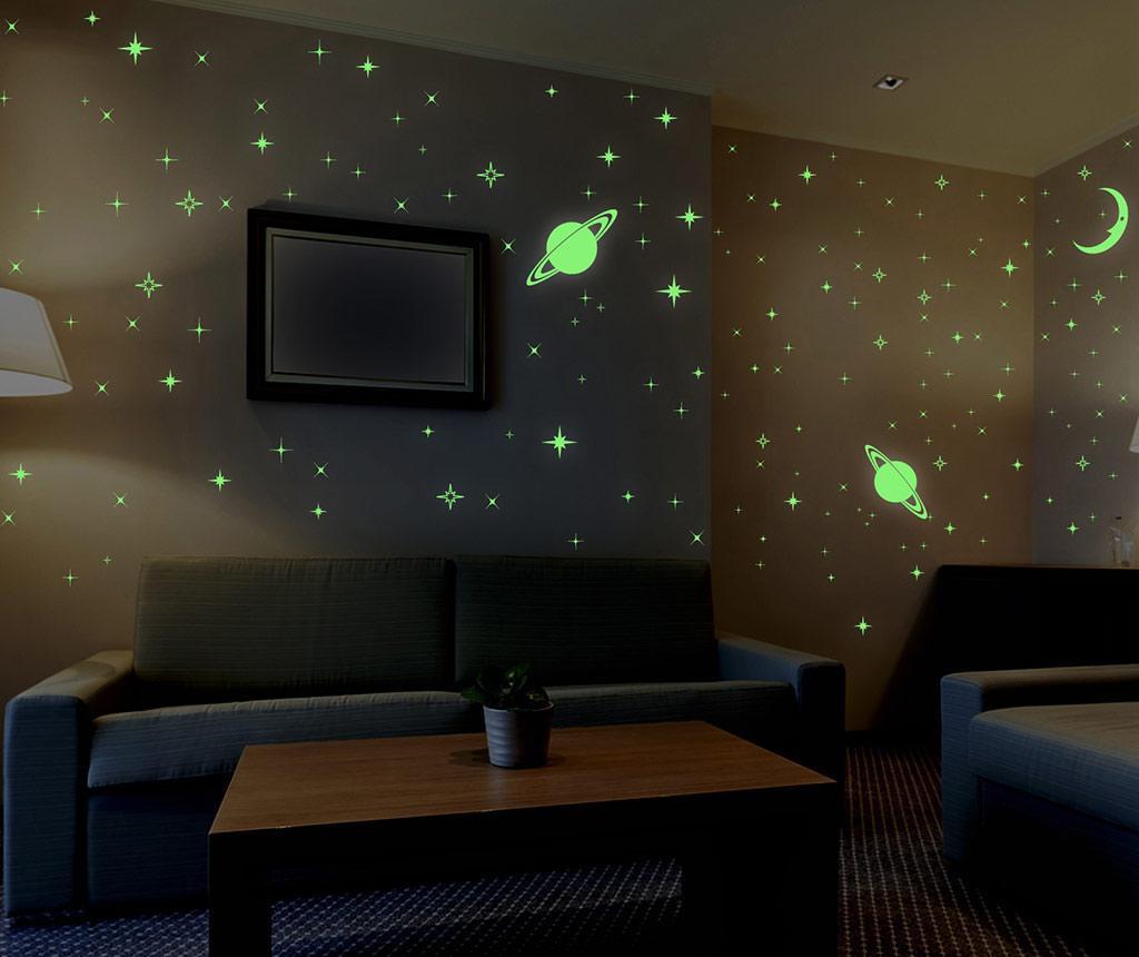 Φωσφορίζον αυτοκόλλητο Stars and Moons