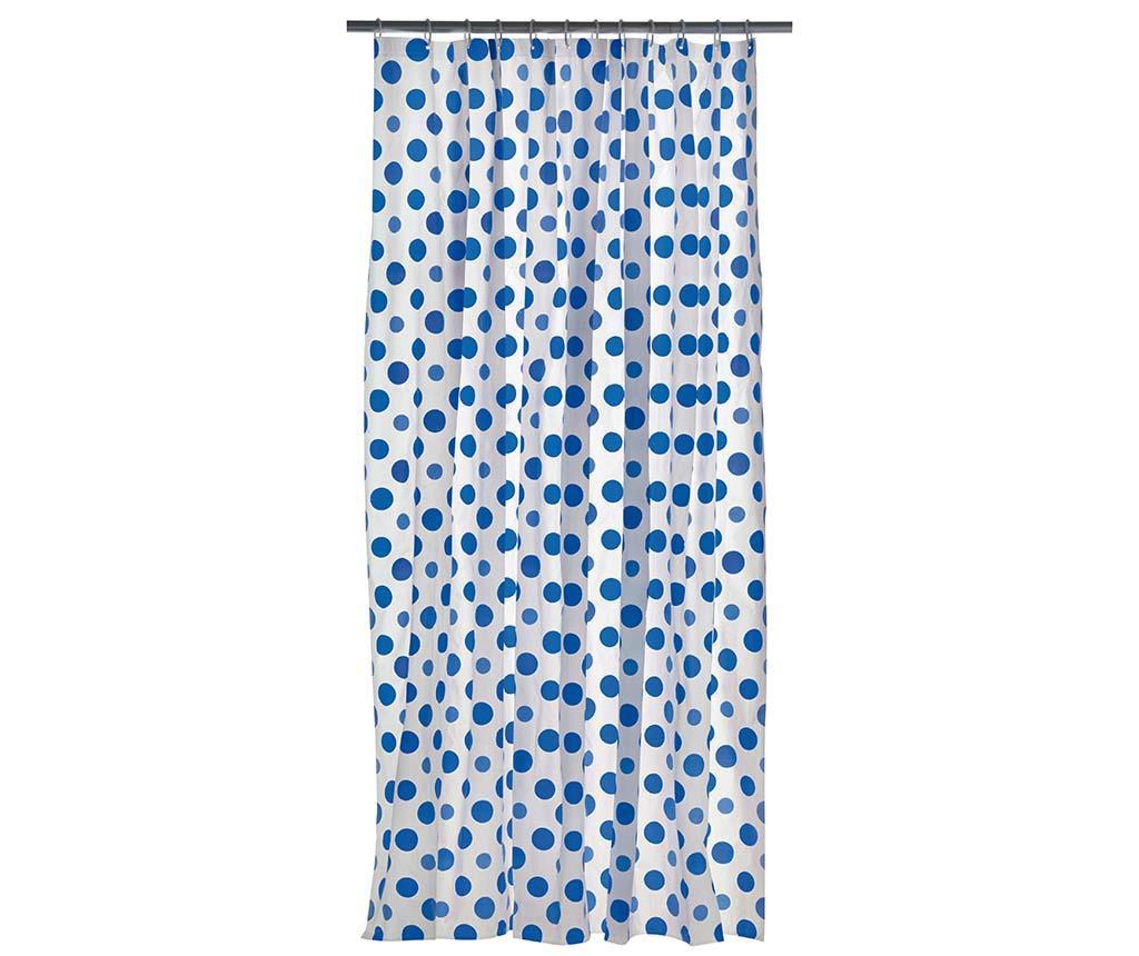 Zasłona kąpielowa Dots Blue 180x180 cm